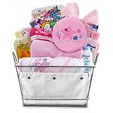 Bath Time Giggles Baby Gift Basket- Girl