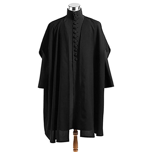 Professor Severus Snape Cosplay Costumes with Cape for Adult