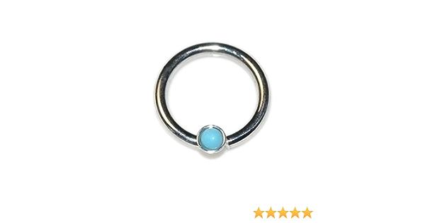 Eta Turquoise Septum Ring Indian Septum Ring Septum Piercing 16G septum Ring Tribal Septum Ring Septum Jewelry OB20