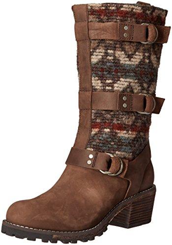 Chocolate Yukon - Woolrich Women's Yukon Junction Harness Boot, Bitter Chocolate/Archival Blanket, 10 M US
