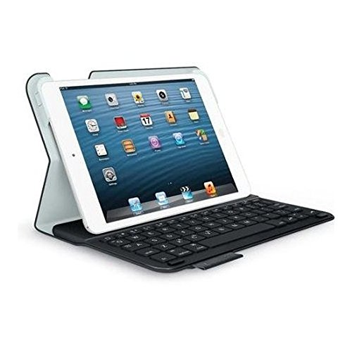 Logitech Ultrathin Keyboard Folio for iPad Mini with Retina Display - Carbon Black (Renewed) (Best Keyboard For Ipad Mini Retina Display)