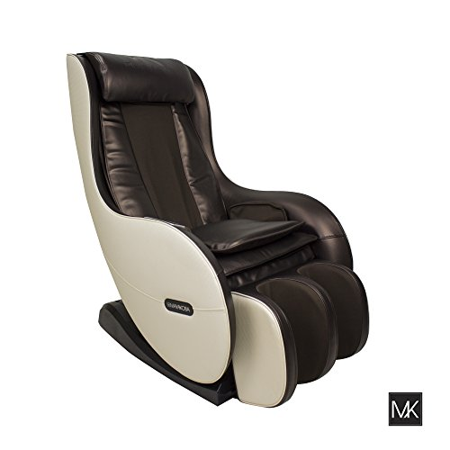 SOGO Full Body Shiatsu MASSAGE CHAIR Zero Gravity Recliner (Mocha-Cream) Multi-function Kneading, Knocking, Tapping with USB, Bluetooth & Speakers