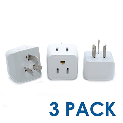 Price comparison product image Ceptics USA to Australia, New Zealand, China Travel Adapter Plug - Type I (3 Pack) - Dual Inputs - Ultra Compact  (Does Not Convert Voltage)