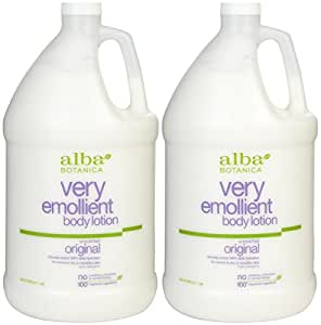 Very Emollient Body Lotion, Unscented, 1  Gallon , 2 pk