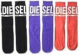 Diesel Men's SKM-RAY-THREEPACK Socks 3pack, black/orange, L