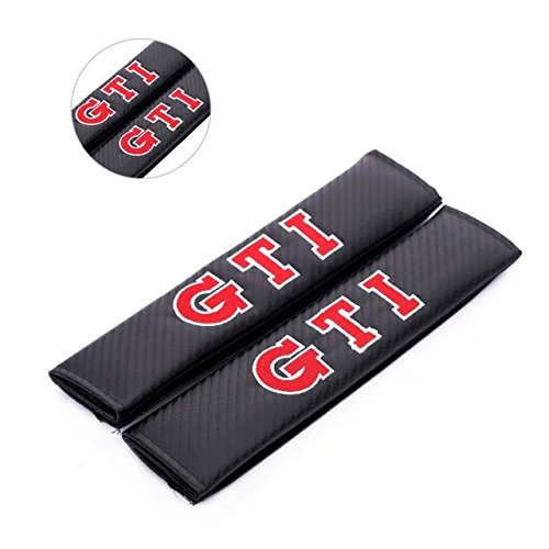 Amooca 2pcs GTI VW Volkswagen Carbon Fiber Car Styling Accessories Seat Belt Shoulders Pad Truck Cover B5 B6 MK4 MK5 MK6 Golf Polo PASSAT SAGITAR Jetta CC MAGOTAN Scirocco Eos