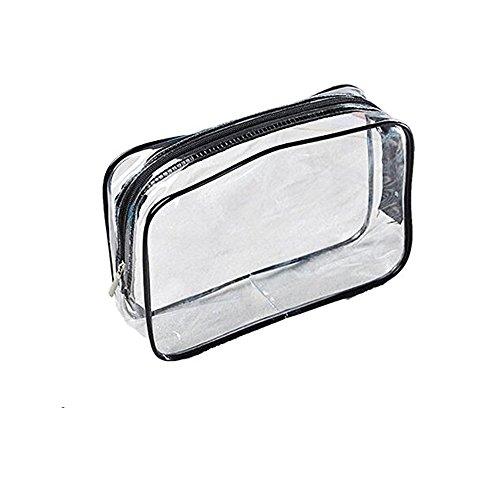 Rohans cosmetico trasparente tre pezzi PVC Bag Da toeletta Set Da Viaggio Borsa Da Bagno Supporto Bustina Kit