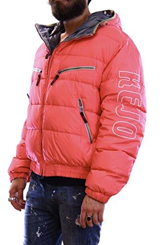 Kejo Ninja Vintage L.E. Flag Goose Down Jacket Fuxia Piumino con toppe ricamate L
