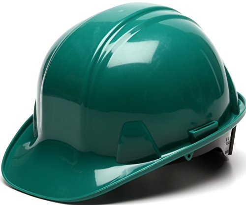 Pyramex Green Cap Style 6 Point Ratchet Suspension Hard Hat by Pyramex Safety