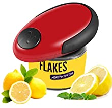Electric Can Opener, Restaurant Can Opener, Touch and Go Professional Can Opener, Automatic Can/Tin Opener, Chef's Best Choice (Mini Red)