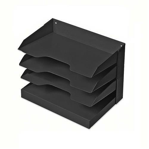 SKILCRAFT Desktop Organizer, 4 Shelf, 12''Wx8-1/2''Dx10''H, Black (7520-01-457-0721) by SKILCRAFT