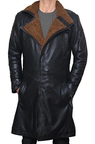 BlingSoul Blade Fur Coat Men Costume - Boys Black Leather Coat (2XL) [PU-BLRN-BL-2XL] by BlingSoul (Image #2)