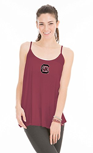 NCAA South Carolina Fighting Gamecocks Women's Rik Lamp Shade Tank Top, Large, Garnet