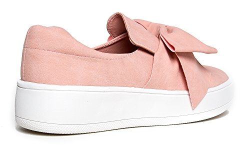 J. Adams Bow Platform - Trendy Flatform Schuhe - Komfortable Closed Toe Sneakers - Wally Bow Pink Nbpu