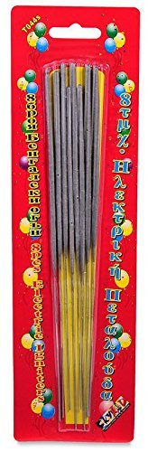 New sparkle Birthday Cake Candles (8 Pack)