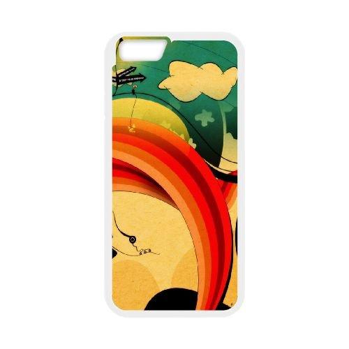 Sunset L coque iPhone 6 Plus 5.5 Inch cellulaire cas coque de téléphone cas blanche couverture de téléphone portable EEECBCAAN05633