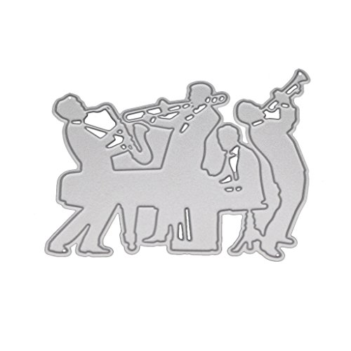 (TeemorShop Orchestra Cutting Dies Stencil DIY Scrapbooking Embossing Album Paper Card Craft Gifts for Friends/Lover)