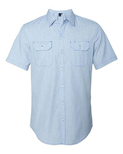 Burnside Dobby-Stripe Short Sleeve Shirt.B9265 - Medium - (Dobby Stripe Shirt)