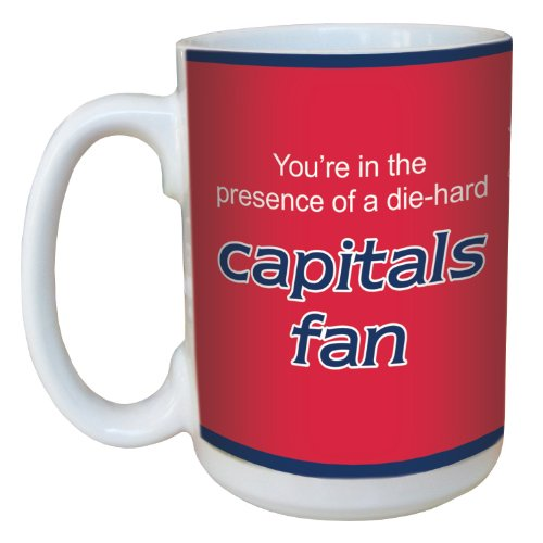 Tree-Free Greetings lm44198 Capitals Hockey Fan Ceramic Mug with Full-Sized Handle, 15-Ounce