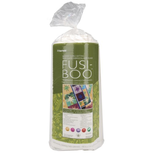 Fairfield Fusi-Boo Bamboo Fusible Batting-Queen/King Size 100 by 116-Inch FOB:MI by Fairfield