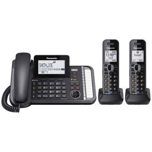 (PANASONIC 2-Line Cordless Phone with 3-Way Conferencing, Call Blocking and Answering Machine)