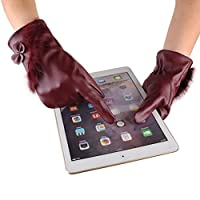 Warm Driving Gloves,Hemlock Women's Winter PU Leather Gloves Phone Screen Touch Gloves Mittens