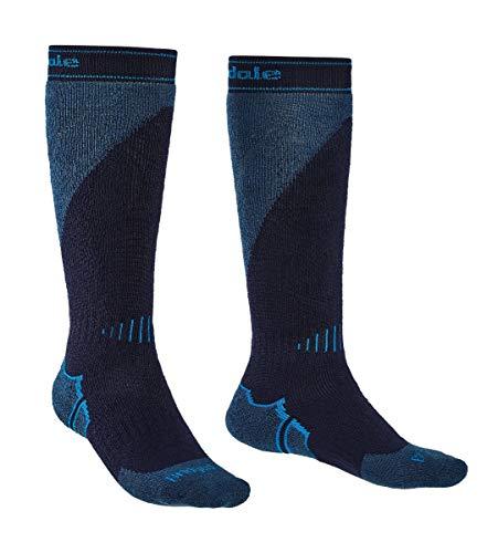 Bridgedale Men's Midweight Plus Ski - Merino Endurance Socks, Navy/Steel, X-Large ()