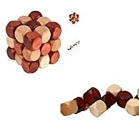 La Dran Magic Snake Shape /Educational 4.5cm Magic Cube Toy for Kids Cube/Wooden Puzzle Cube As The Pic