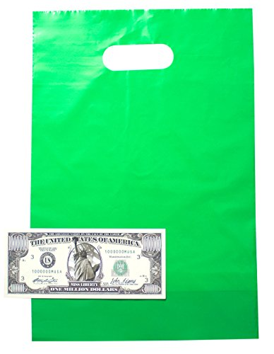 Treat Bags Bundle by Imprints Plus Includes (12 Pack) Plus 1 Non-Negotiable Million Dollar Bill (Green) (Creative Ideas For Halloween Pumpkins)