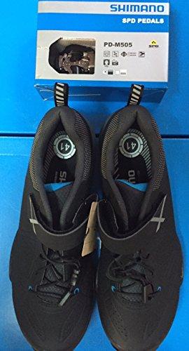 Shimano MT44Cyclisme Trail Chaussures VTT pour homme Argent & PDM520Pédales & SH51Crampons Combo