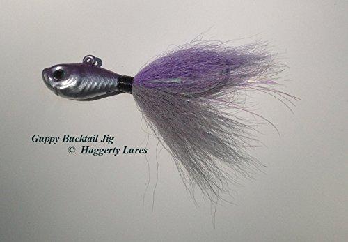 Haggerty Lures Buck tail Jig-Guppy Minnow Fish-Striper Fluke