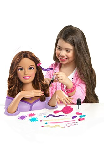 Barbie Color, Cut and Styling Brunette Styling Head by Just Play