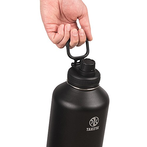 Takeya Actives Insulated Stainless Water Bottle Beer Growler with Insulated Spout Lid, 64oz, Onyx by Takeya (Image #3)