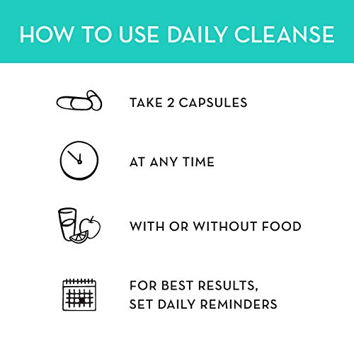 HUM Daily Cleanse - Skin & Body Detox with Organic Algae, 15 Herbs + Minerals (60 Vegan Capsules) by HUM (Image #6)
