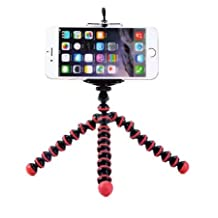 Case Star Octopus Style Portable and adjustable Tripod Stand Holder for iPhone, Cellphone ,Camera and Case Star Cellphone Bag-Red and Black by case star