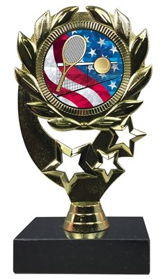 Express Medals (1-3-5パック) 6インチテニストロフィー賞 刻印プレート&大理石ベース MY520 B07GRGY7VW  5