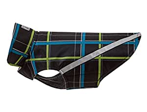 RC Pet Products West Coast Rainwear Raincoat, Fleece Lined, Water-Resistant, Reflective Dog Coat, Size 8, RC Plaid