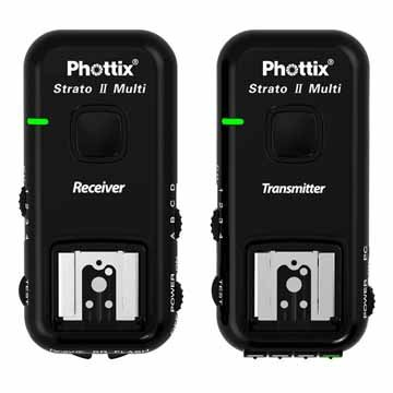 Phottix Strato II Wireless Flash Trigger Multi 5-in-1 Set for Canon - Transmitter and Receiver (PH15651)