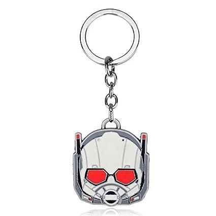 CLEARNICE Llavero Superhéroe Ant-Man Visión Llavero ...