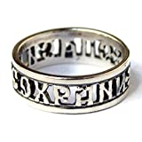 Lord Save Me Keep Me Safe 925 Sterling Silver Band Ring Christian Prayer Russian Orthodox Jewelry