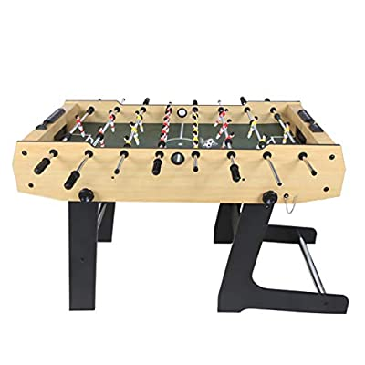 Funmall 48 inch Folding Soccer Foosball Table for Adults Kids Room Sports Game : Sports & Outdoors