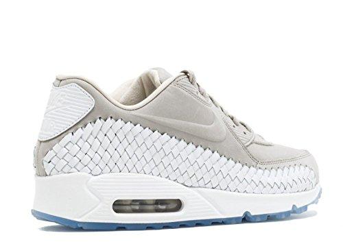 Nike Hommes Air Max 90 Tissé Fer De Chaussure Occasionnel / Blanc