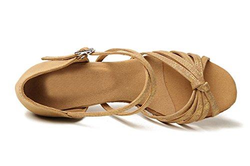 Salon Minitoo 8cm femme Light de Heel 4 Danse Brown E6qr6a