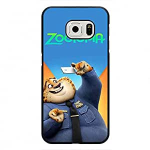 Popular Zootopia Funda Cover for Samsung Galaxy S6 Edge,Walt Disney Animation Zootopia Officer Benjamin Clawhauser Phone Funda