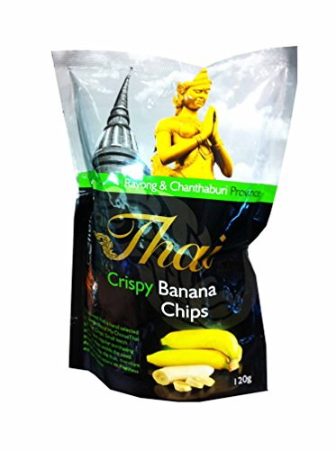 3 Packs of Crispy Banana Chips, Delicious Fruit Snack From My Choice Thai Brand, 4 or 5 Strar Otop Rating Approved. (120 G/ (Banana Flasher Costume)