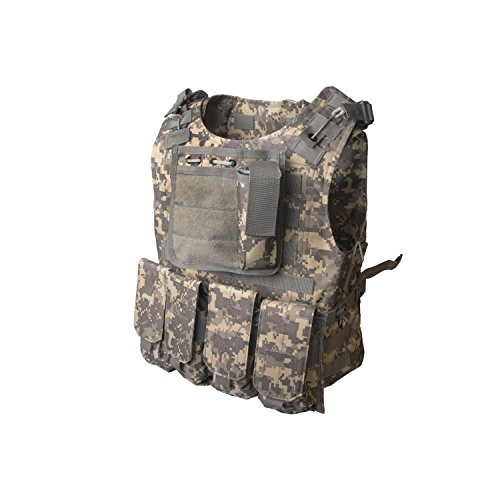 ALEKO PBTV52 Paintball Airsoft Chest Protector Tactical Vest Outdoor Sports Body Armor Camouflage by ALEKO
