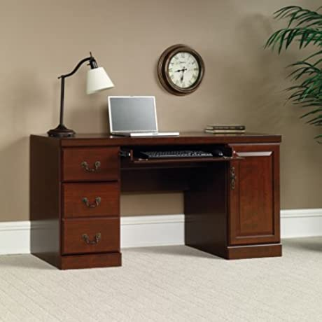 Luxurious Office Desk In Classic Cherry Finish Desk With Pull Out Tray And Drawers Office Furniture Office Furniture Wooden Cherry Office Desk Bundle With Expert Guide Quality In Our Life