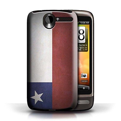 Etui / Coque pour HTC Desire G7 / Chili/Chiliean conception / Collection de Drapeau