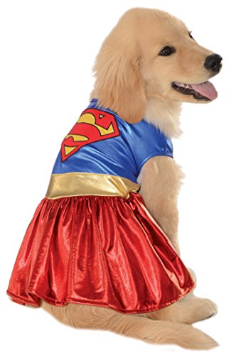 [DC Comics Pet Costume, Medium, Supergirl] (Pugs Costumes)