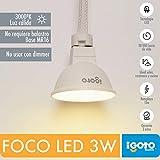 iGOTO F20403 Foco LED MR16, GU5.3, 3 Watts, Luz Cálida